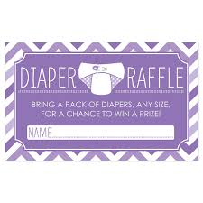 Raffle Tickets For Baby Shower Chevron Purple Diaper Raffle Baby Shower Game 18 Ct