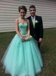 green puffy prom dresses long dresses online