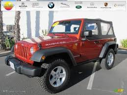 Wrangler 2009 2009 Sunburst Orange Pearl Coat Jeep Wrangler Rubicon 4x4