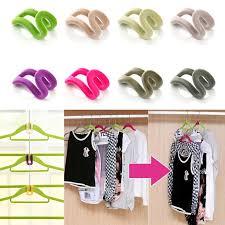 Closet Hanger Organizers - aliexpress com buy 10 pcs home creative mini flocking clothes