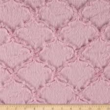 shannon minky luxe cuddle lattice baby pink discount designer