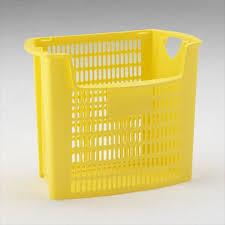 corbeille bureau corbeille poubelle bureau tri selectif 32l ajouré à ouverture jaune