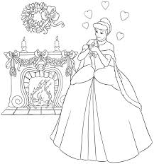 coloring pages disney princess cinderella printable for kids 2360
