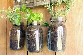 Diy Garden Crafts - diy hanging garden for jarred herbs crafts unleashed