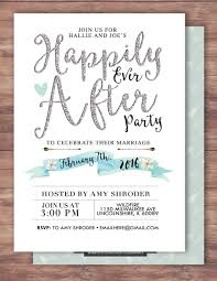 happily ever after invitation boho wedding shower invitation