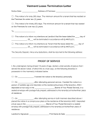 Contract Termination Notice Notice Of Lease Termination Lease Termination Letter To Tenant