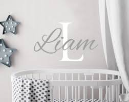 Wall Decals For Nursery Boy Baby Boy Wall Decal Etsy