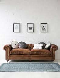 leather sleeper sofa as fancy furniture design in living room