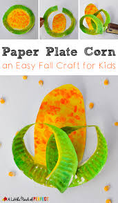paper plate corn easy harvest craft for kids to make