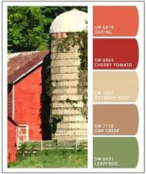 rigor hill barn paint color palette by sherwin williams at
