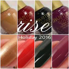 sparitual gold rise holiday 2016 collection polish and paws