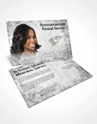 bifold order of service obituary template brochure black and white