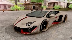 New Lamborghini Aventador - lamborghini aventador shark new edition white for gta san andreas