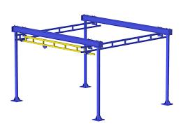 gorbel free standing work station bridge crane capacity 1000 lbs
