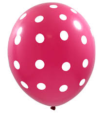 polka dot balloons polka dot hot pink balloons 6ct