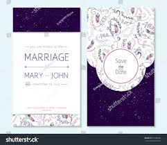 Wedding Invitations And Thank You Cards Wedding Invitation Thank You Card Save Stock Vector 312686381