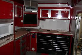 touch of class trailers u2013 kitchen area cabinets