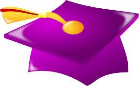 purple graduation cap purple graduation hat with tassle clip at clker vector