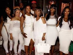all white party burruss celebrates 41st birthday with studded all white party