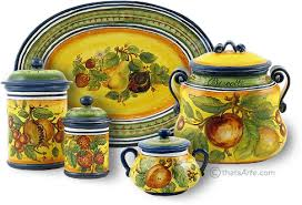 tuscan style kitchen canisters tuscan style canisters handcrafted tuscan canisters