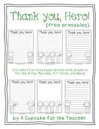 free printable writing paper to thank military members thank you