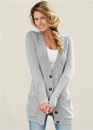 cardigan sweaters venus cardigan in light grey