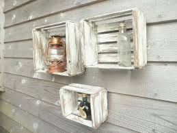 Home Decor Boxes Shadow Boxes Wood Crate White Washed Primitive Shadow Box