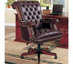Leather Office Chair Tufted Leather Office Chair