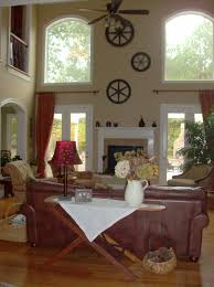 Great Room Decor by The Dramatic 2 Story Great Room Contains A Fireplace Lots Of
