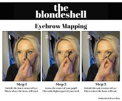 Shaping Eyebrows At Home How To Shape Your Eyebrows With Eyebrow Mapping The Blondeshell