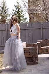 tulle maxi skirt lookbook