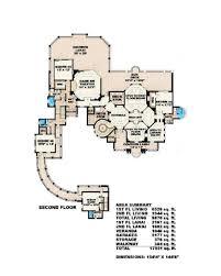 mediterranean style house plan 6 beds 6 50 baths 9870 sq ft plan