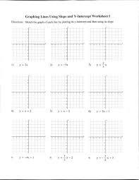 slope intercept form worksheet worksheets