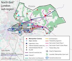 London Bus Map North London City Region Map Map Of London Political Regional