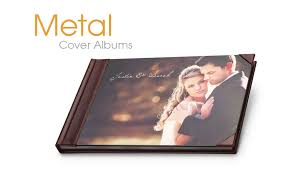 professional leather photo albums metal cover albums professional studio products