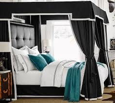 Black Canopy Bed Frame The Steps To Change Size To King Size Canopy Bed Frame