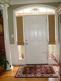 Half Window Curtain Sidelight Window Treatments On The Main Entry Doors Homesfeed