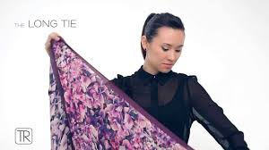 how to wear big square scarf tie rack edition youtube