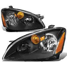nissan altima 2015 headlight bulb 02 04 nissan altima factory style replacement headlights black