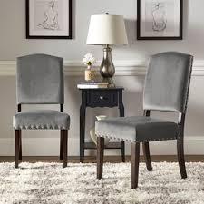 Velvet Dining Room Chairs Velvet Fabric Dining Chair Wayfair