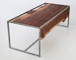 Raw Edge Table by Live Edge Table Etsy