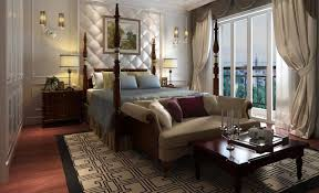 bedroom marvelous master bedroom with artistic wallpaper and