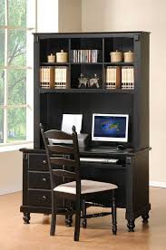 Desk With Hutch Black Collection In Computer Desk With Hutch Black Cottage Style