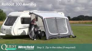 Caravan Rollout Awnings Rollout 300 Erects In Under 3 Minutes Youtube
