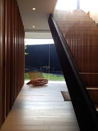 architecture wood and glass materials in interior and stair