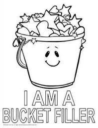 awesome and also attractive bucket filler coloring page regarding