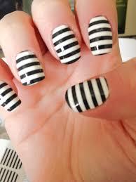 black and white stripe nails nail art pretties blog