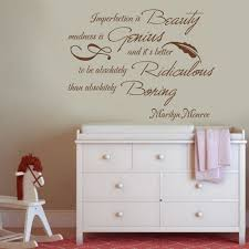 popular m and m wall decal buy cheap m and m wall decal lots from marilyn monroe quote imperfection is beauty nursery kids room vinyl wall decal sticker 46