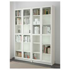 Ikea Bookcases With Doors Billy Oxberg Bookcase White Glass 160x202x30 Cm Ikea