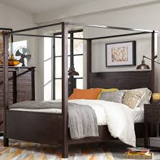 Magnussen Harrison Bedroom Furniture by Pine Hill Wood Canopy Bed In Rustic Pine Humble Abode